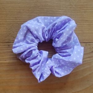 Purple Polka Dot Scrunchie